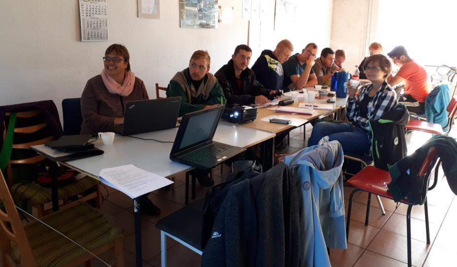 Lehrunterweisung in Drahnsdorf