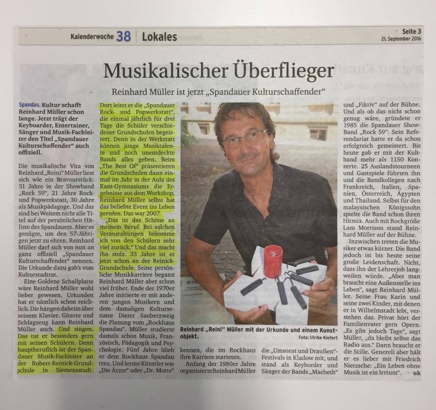 Ehrung Herr Müller