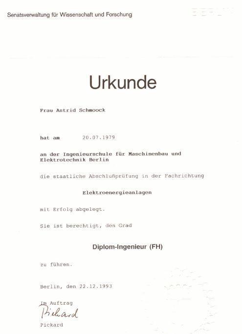 EPRO Schmoock IB Elektro-SIGEKO - Dokumente und Zertifikate