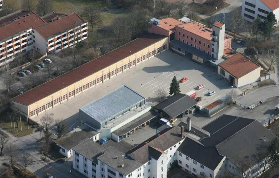 Luftaufnahme Hauptfeuerwache Rosenheim