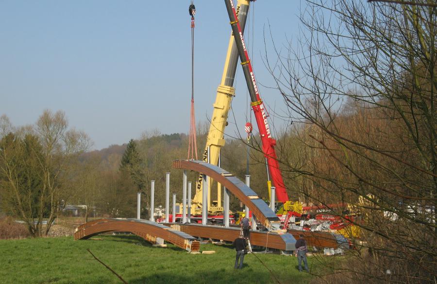 Aggerbrücke bei Kreuznaaf im Bau