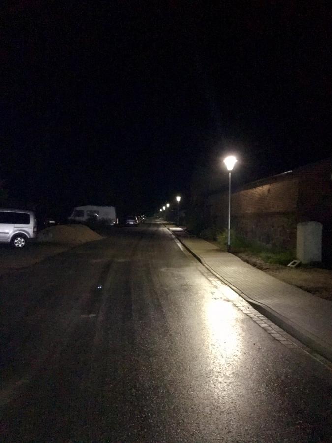 Neue Straßenbeleuchtung Pritzenow