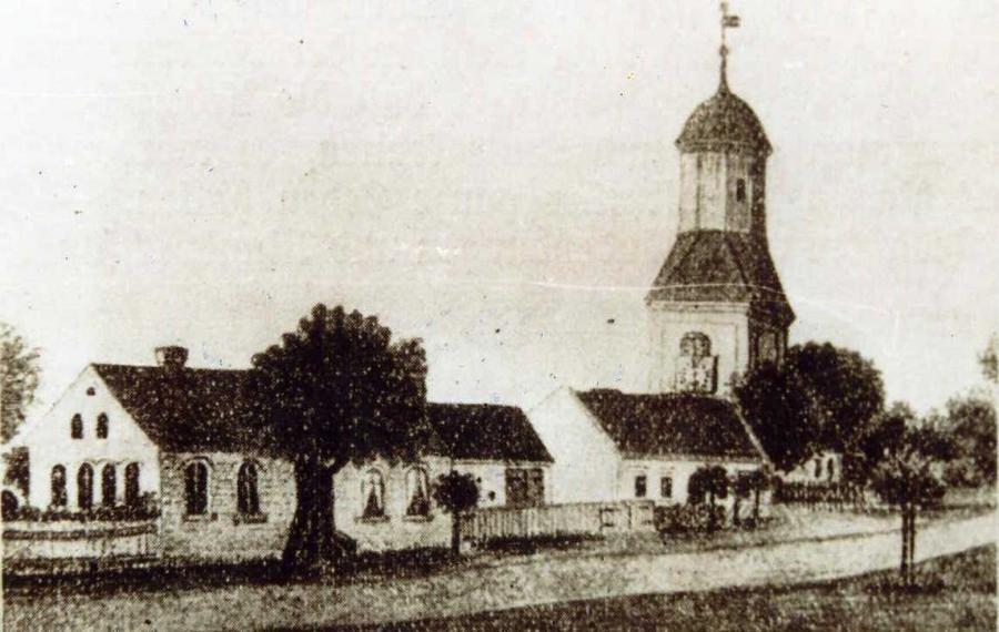 Kirche vor dem Brand