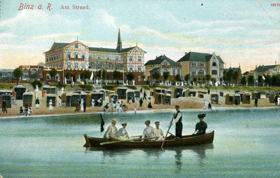 Binz a. R.  Am Strand 1913