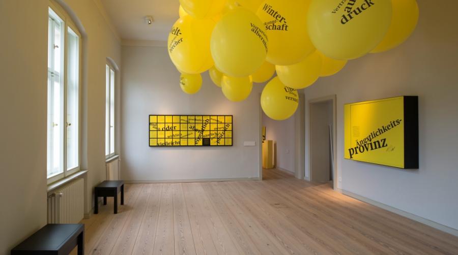 Raum in der Ausstellung fontane.200/Autor