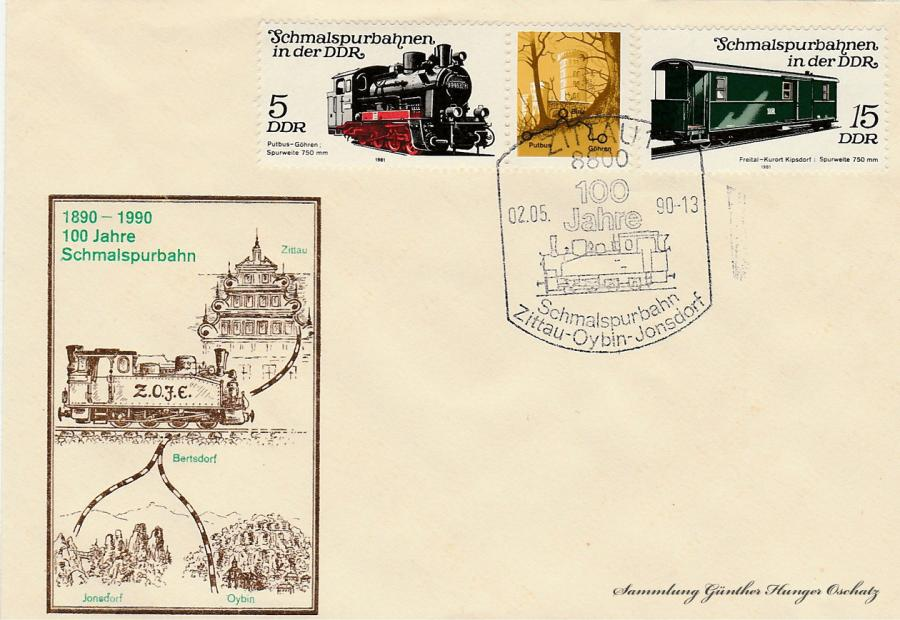 1890-1990  100 Jahre Schmalspurbahn Zittau-Oybin-Jonsdorf
