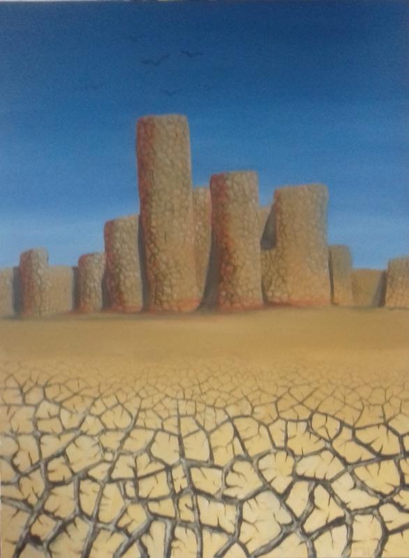 Verdorrtes Land2003 Öl/Acryl auf Leinwand   75 x 100 cm