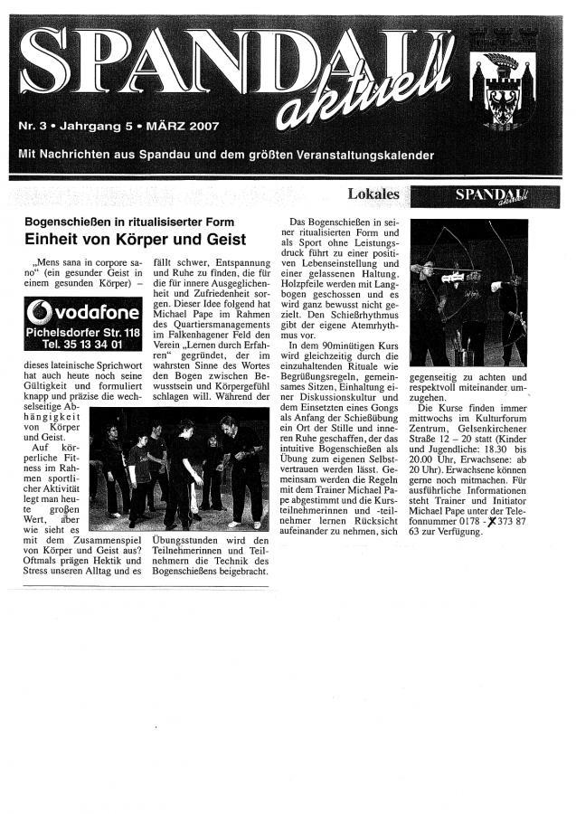 Spandau Aktuell März 2007