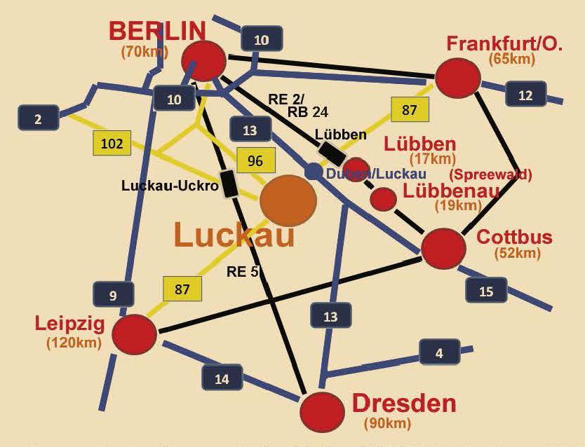 Verbindungen nach Luckau