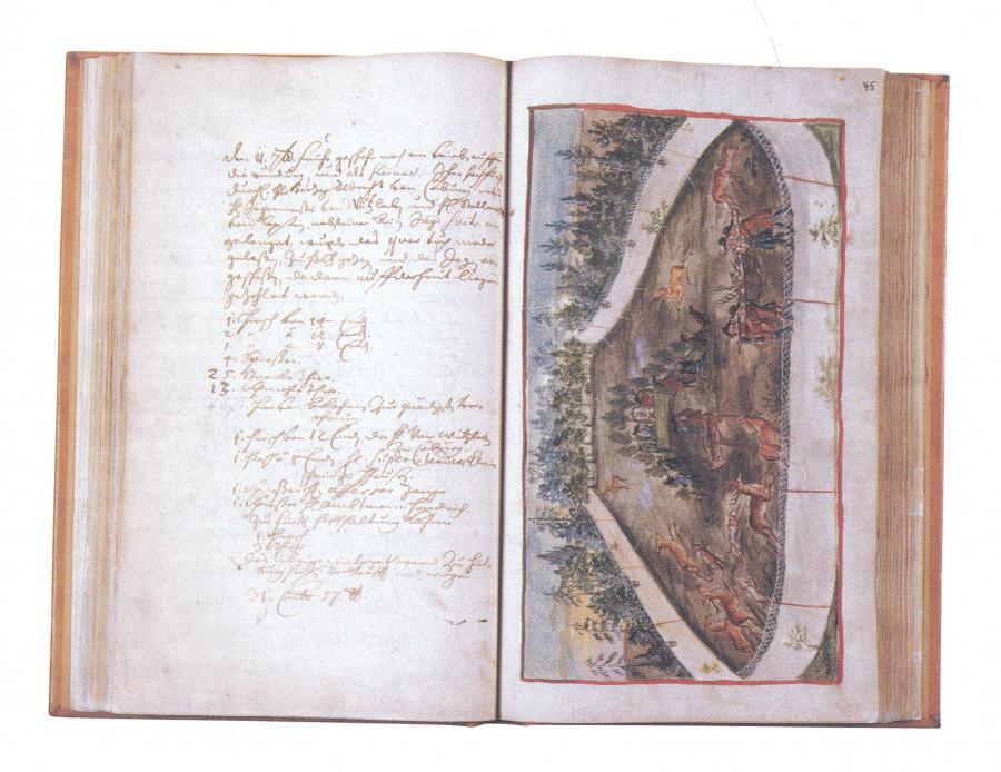 Jagdbuch der Heröge von Sachsen-Hilburghausen 1694 bis 1705