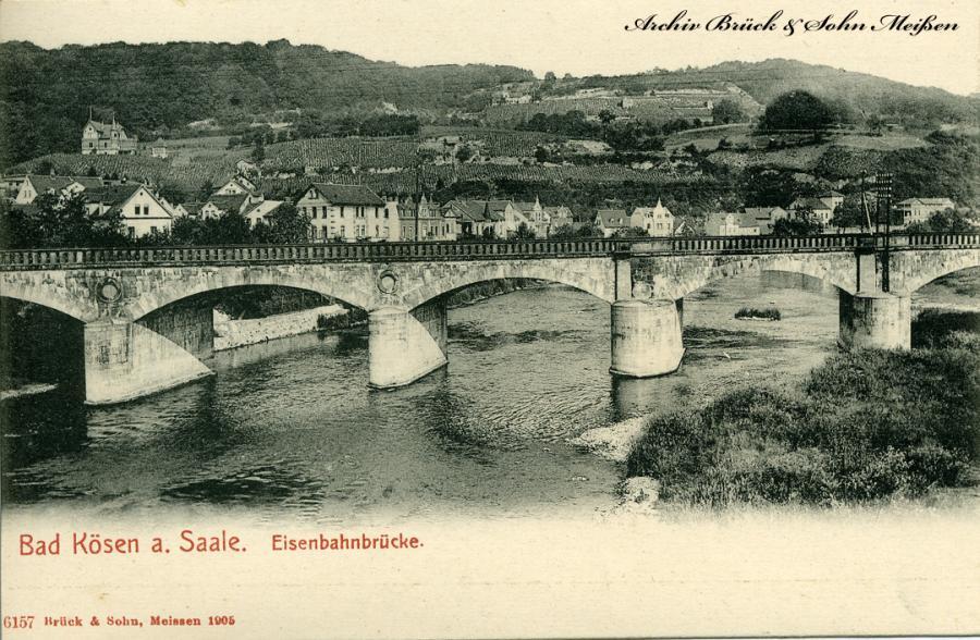 Bad Kösen a. Saale Eisenbahnbrücke