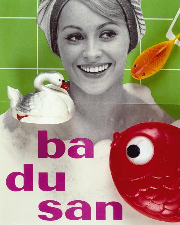 badusan Plakat VEB Gerana Kosmetik Gera, Spielzeug  Foto- Volker Weinhold