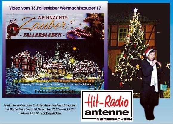 Bärbel Weist Rundfunkinterview zum Fallersleber Weihnachtszauber