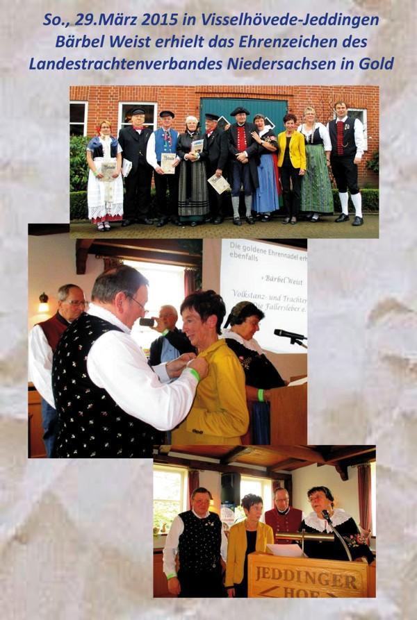 Bärbel Weist erhält Ehrenzeichen des Landestrachtenverbands Niedersachsen