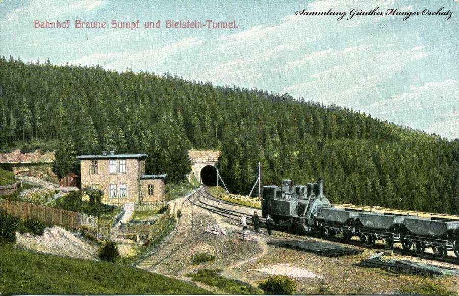 Bahnhof Braune Sumpf und Bielstein-Tunnel