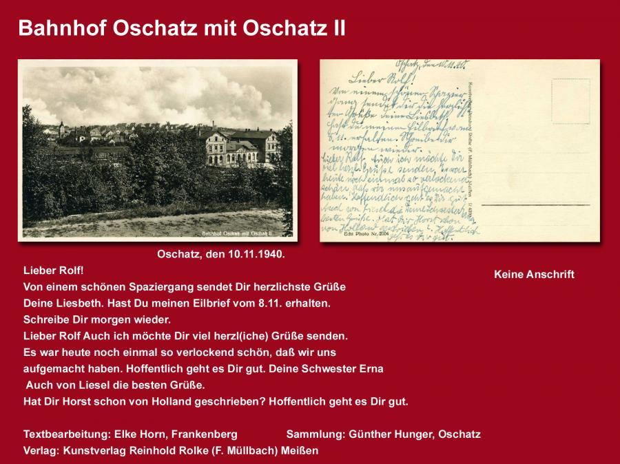 Bahnhof Oschatz mit Oschatz II