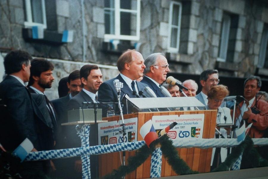 Bahnhofs-Grenzöffnung 1991
