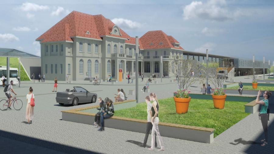 So könnte das Bahnhofsumfeld nach einer Neugestaltung aussehen ...