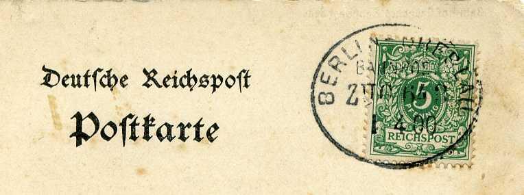 Bahnpoststempel Berlin -Breslau Zug 643  1900