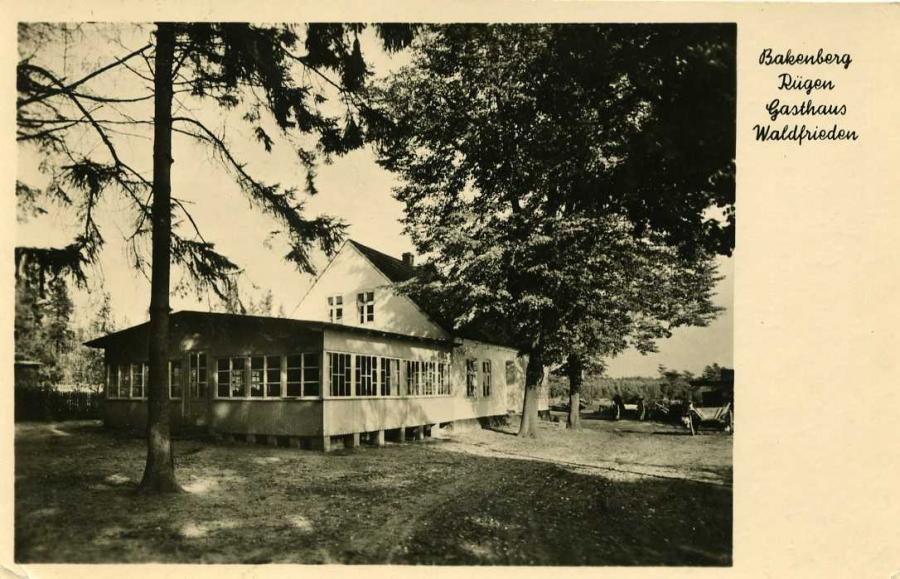 Bakenberg Rügen Gasthaus Waldfrieden 1958