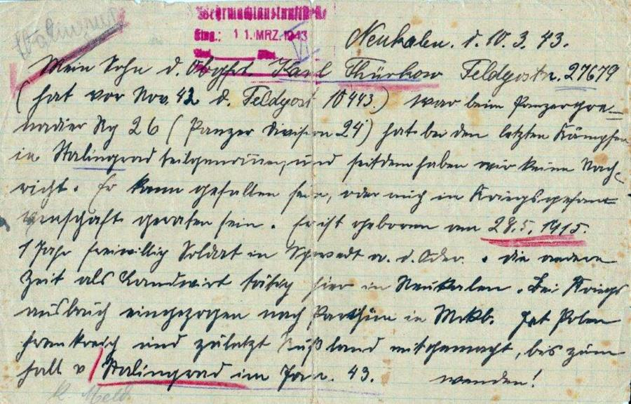 Brief von Carl Thürkow (1)