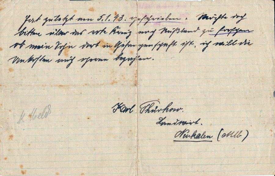 Brief von Carl Thürkow (2)