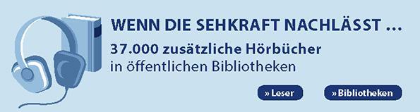 Banner: Zusätzliches Angebot für Leser mit einer Sehbeeinträchtigung in der Stadtbibliothek Perleberg