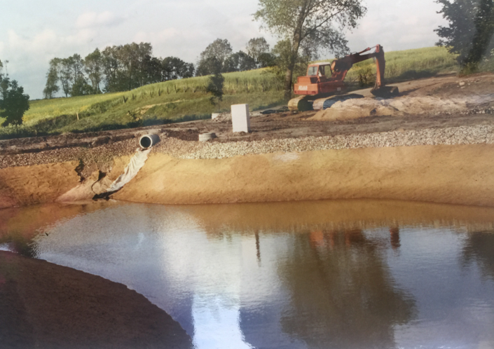 Bau der Kläranlage 1990 - I