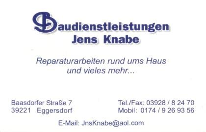 Baudienstleitungen Jens Knabe