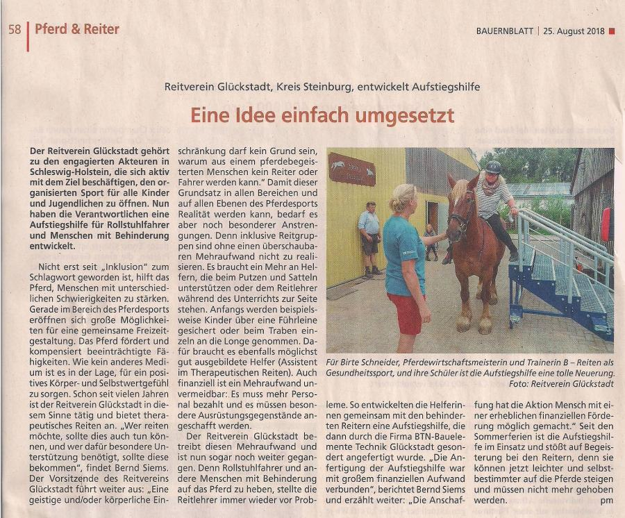 Bauernblatt vom 25.08.2018