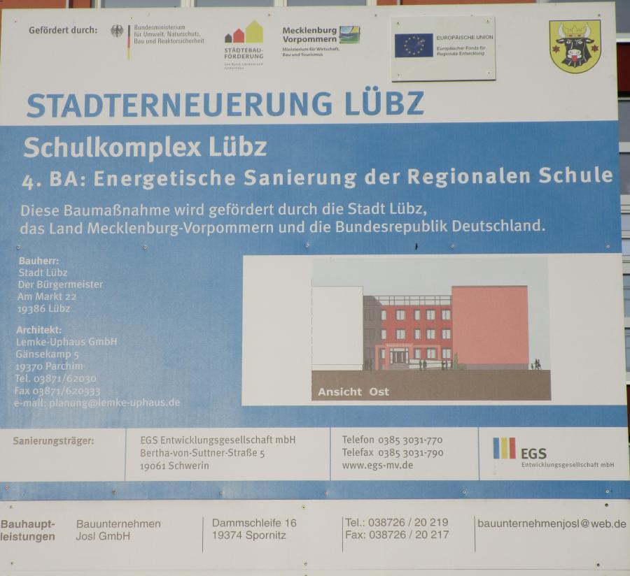 Bauschild energetische Sanierung