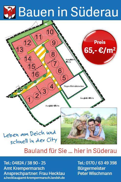 Bauschild Gemeinde Süderau