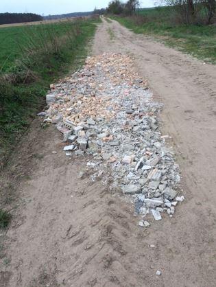 Illegaler Müll Bauschutt Dahnsdprf-Lühnsdorf