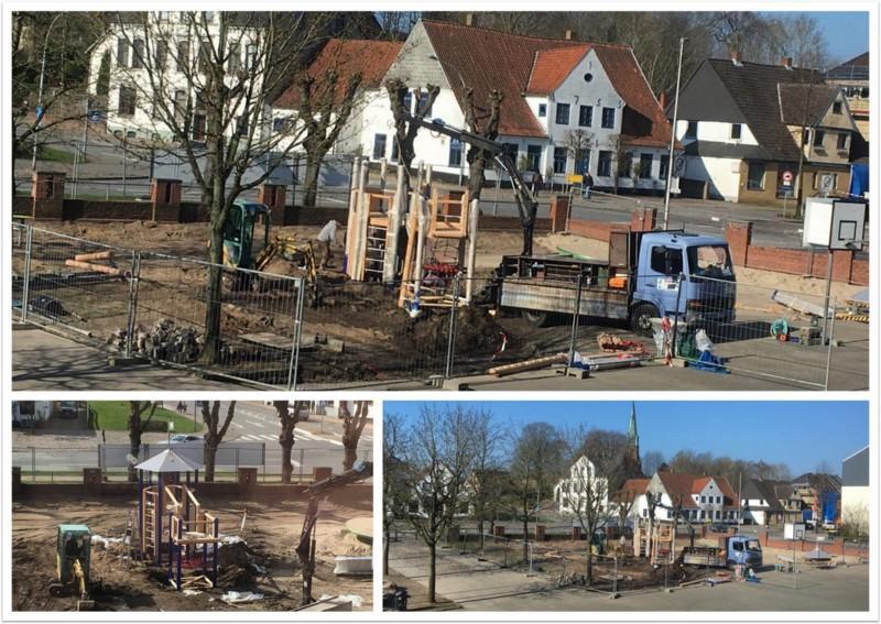 Baubeginn Collage 1
