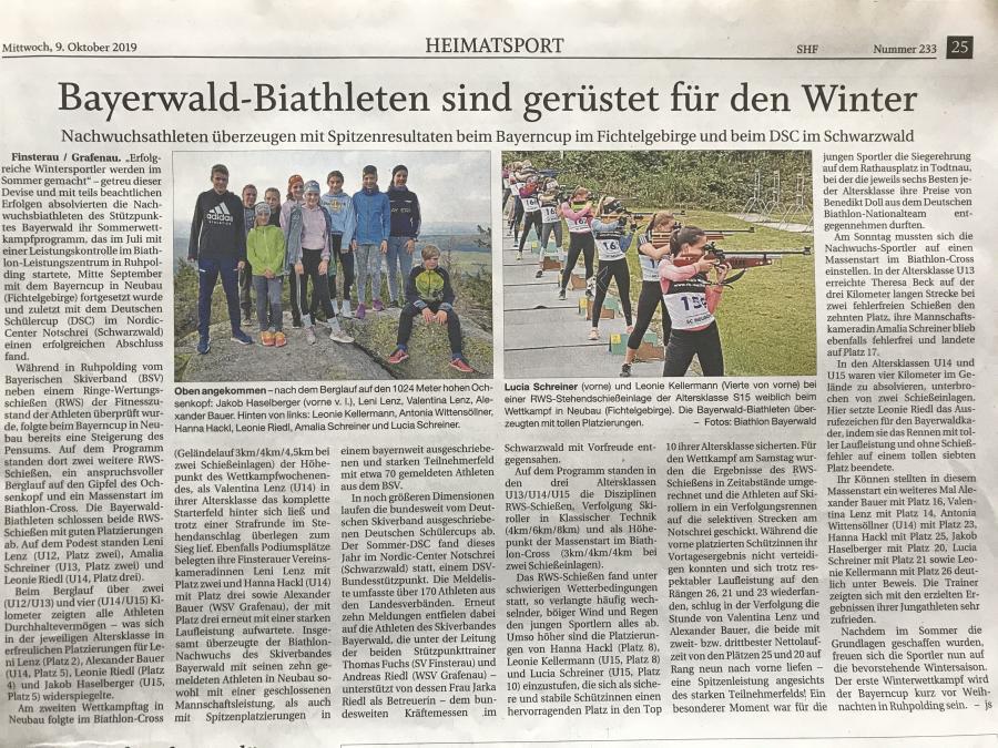 Bayerwald Biathleten sind gerüstet für den Winter