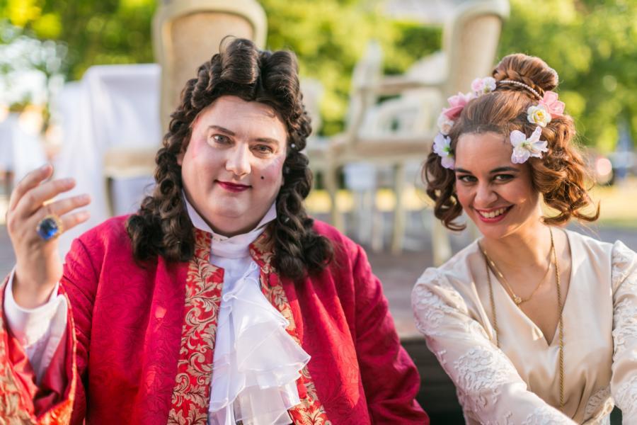 Schauspieler des Staatstheaters Cottbus zur Eröffnungsveranstaltung   Foto: Thomas Rafalzyk