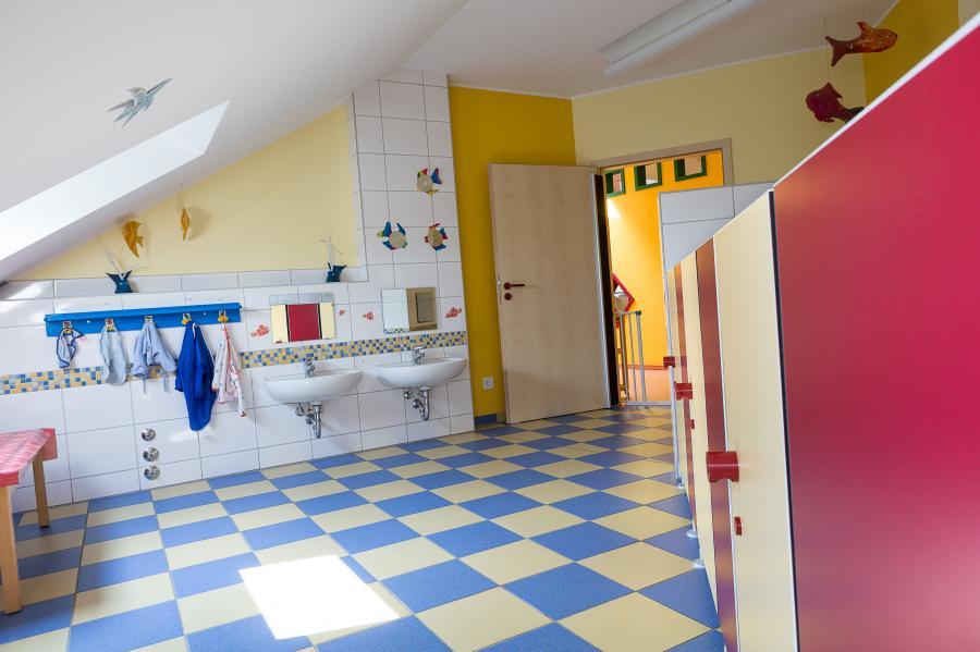 Waschraum der Krippe