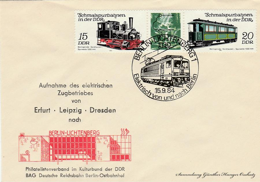 Aufnahme des elektrischen Zugbetriebes von Erfurt-Leipzig-Dresden nach Berlin-Lichtenberg