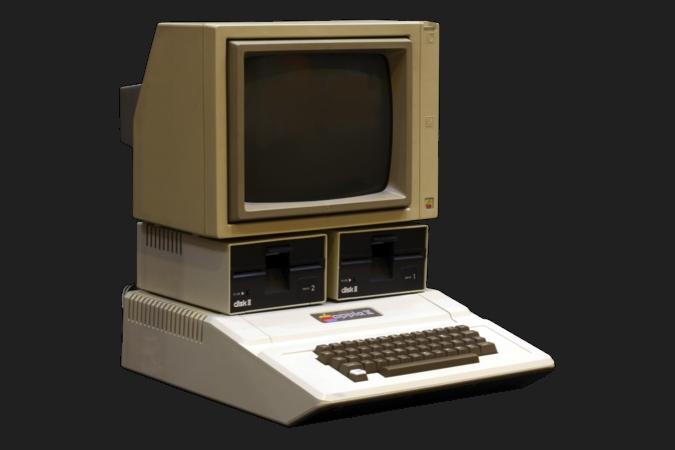 In der Realschule werden die Computer (Apple IIe) angeschafft.