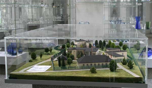 Modell der Glashütte Süßmuth in Penzig