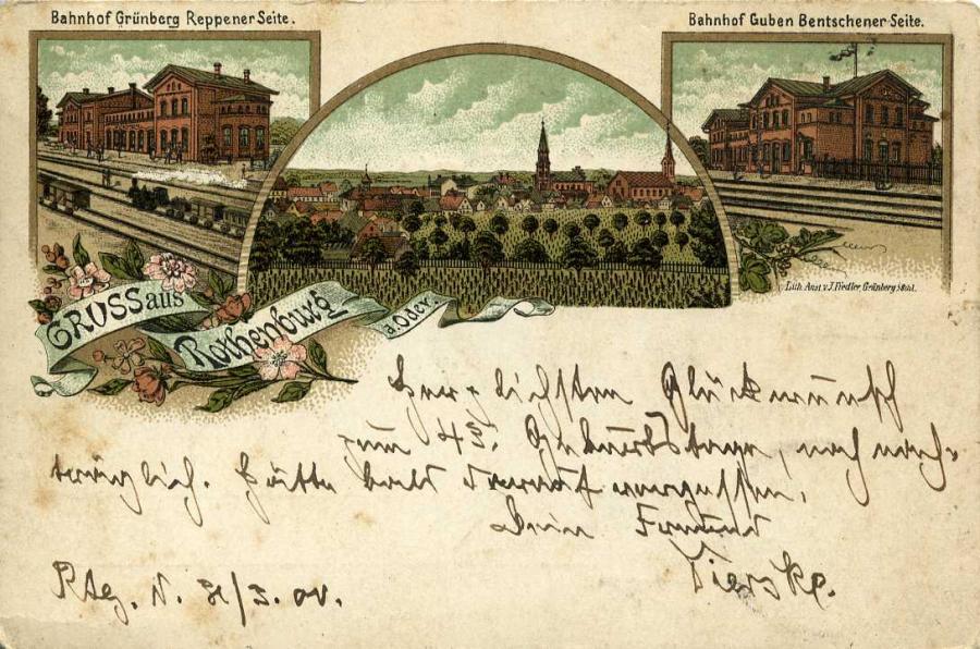 Gruss aus Rothenburg  a. Oder 1900