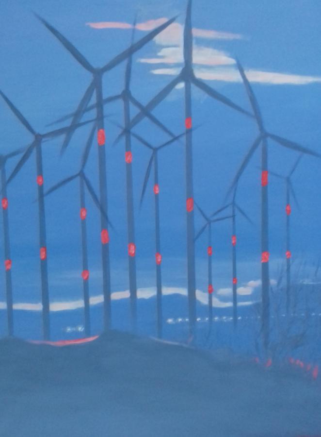 Mecklenburger Landschaft2018 Öl/Acryl auf Leinwand   80 x 100 cm