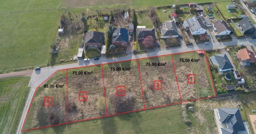 Lageplan der Grundstücke am Mühlenberg