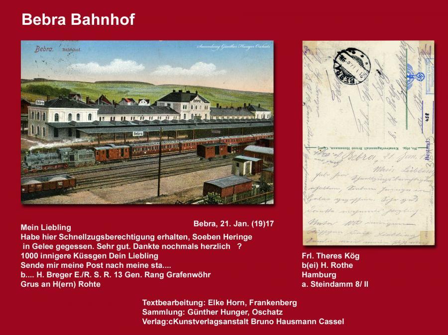 Bebra Bahnhof 1917