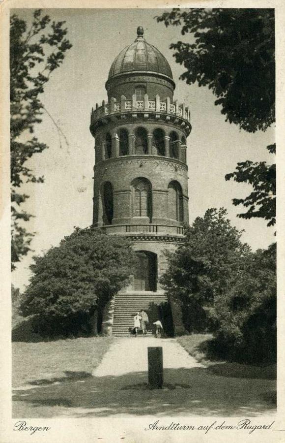 Bergen Arndtturm auf dem Rugard 1928