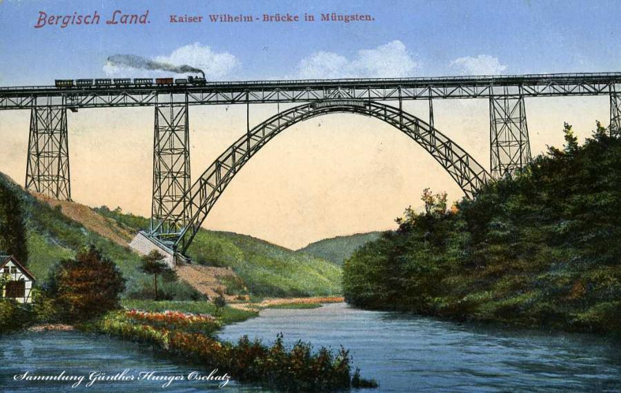 Bergisch Land Kaiser Wilhelm -Brücke in Müngsten