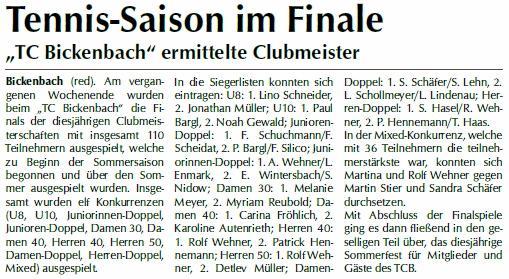 Der Bergstraesser Clubmeister 2017