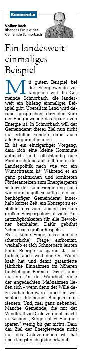 Kommentar Volker Boch