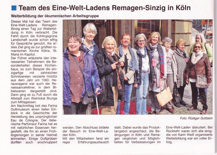 Weiterbildung des EWL-Teams in Köln