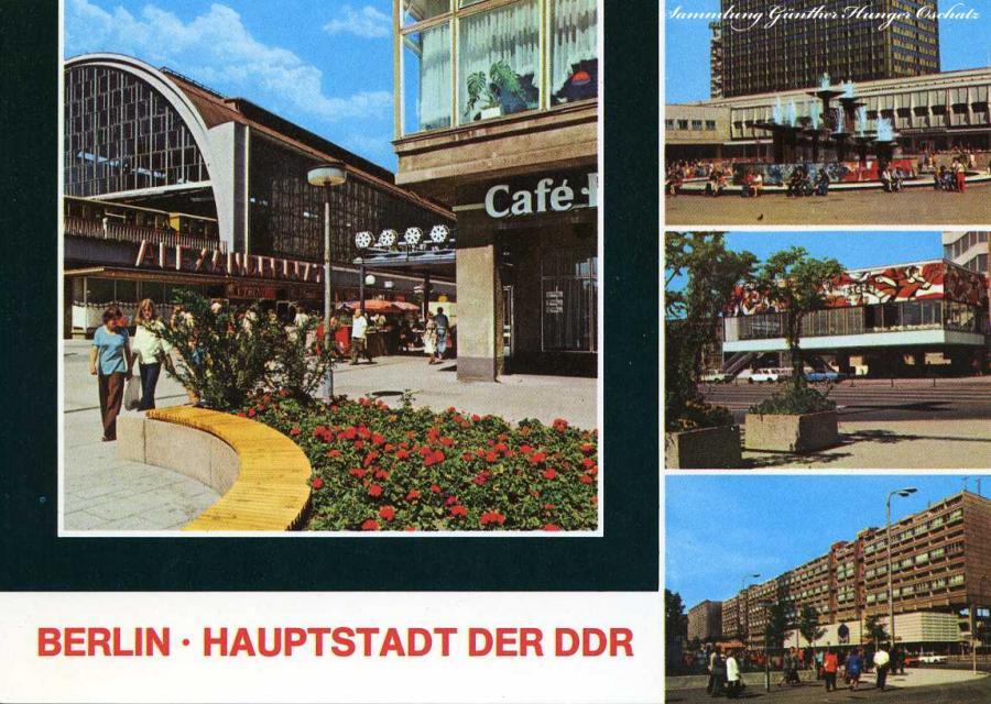 Berlin-Haupstadt der DDR S-Bahnhof Alexanderplatz